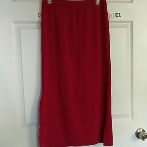 KNIT CHIC Long Skirt for Womans size S.